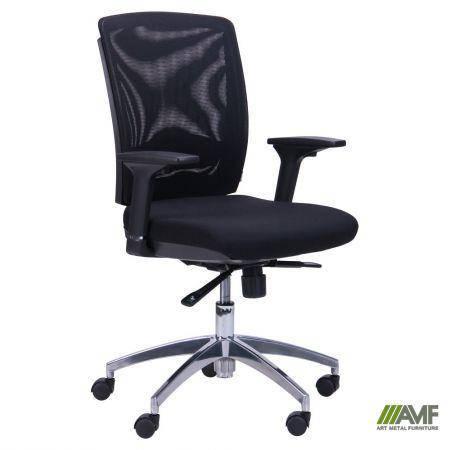 Кресло Канари чёрный/сетка чёрная (X-7), фото 2