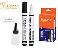 Маркер перманентный TUKZAR белый, перезаправляемый TZ-5553