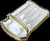 Дорожный набор баночек/бутылочек по 100 мл (комплект 6 шт) в косметичке, фото 2