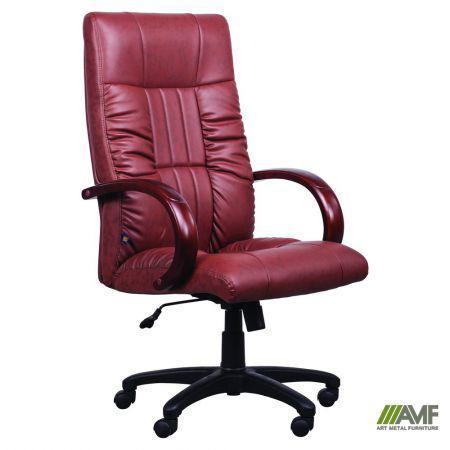 Кресло Консул НВ, кожзам коричневый (622-B High-Back Brown PU+PVC, HL018 Mech)