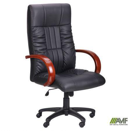 Кресло Консул НВ, кожзам черный (622-B High-Back Black PU+PVC , HL018 Mech)