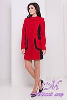 Женское шерстяное осеннее пальто (р. S, M, L) арт. Каскад крупное букле 8964