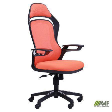 Кресло Spider GTX сетка оранжевая, каркас черный, фото 2