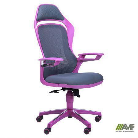 Кресло Spider GTX сетка серая, каркас фиолетовый, фото 2