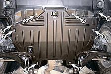 Защита двигателя Nissan Murano (2003-2008) Полигон-Авто