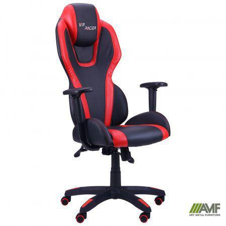 Кресло VR Racer Atom черный, PU черный/красный, фото 2