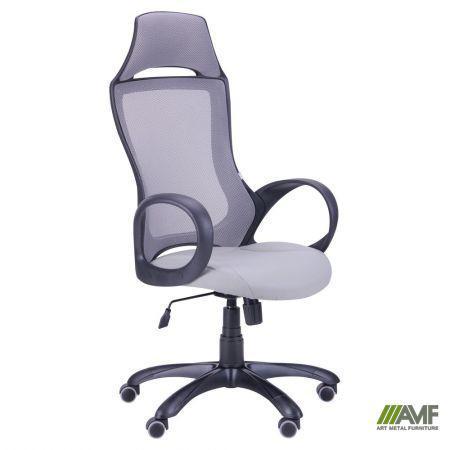 Кресло Viper черный, сиденье Неаполь N-23/спинка Сетка серая