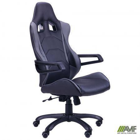 Кресло Vulcan черный, PU черный/серый, фото 2