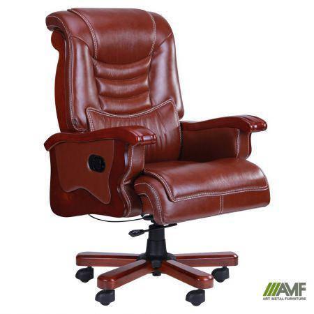 Кресло Монреаль, кожа коричневая (675-B+PVC), фото 2