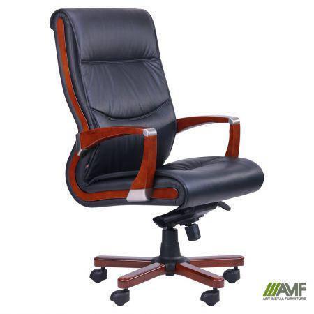 Кресло Монтана НВ, кожа черная (619-B+PVC), фото 2