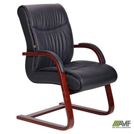 Кресло Монтана CF, кожа черная (619-D+PVC)