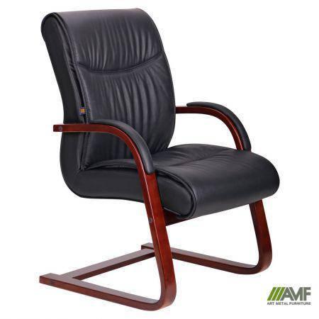 Кресло Монтана CF, кожа черная (619-D+PVC), фото 2