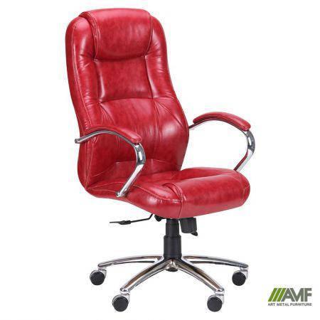 Кресло Мустанг Anyfix Хром Лаки Красный, фото 2