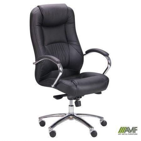Кресло Мустанг MB Хром Неаполь N-20, вставка Неаполь N-20 перфорированный