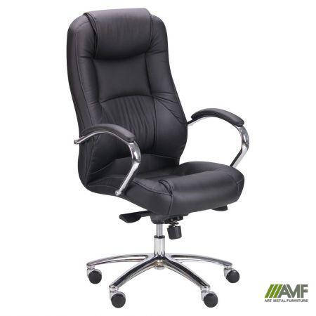 Кресло Мустанг MB Хром Неаполь N-20, вставка Неаполь N-20 перфорированный, фото 2