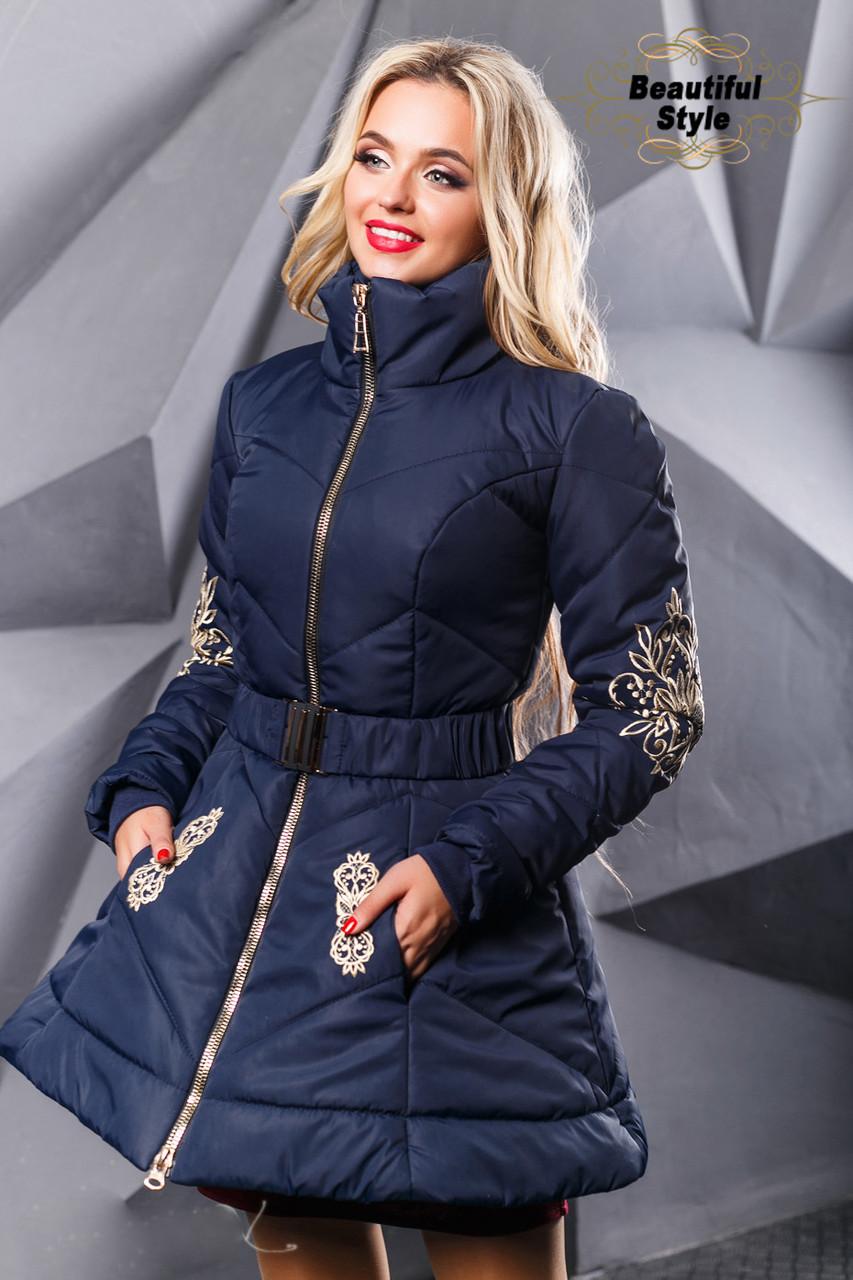 Зимняя женская куртка на силиконе