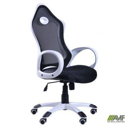 Кресло Матрикс-1 Белый, сиденье Сетка черная/спинка Сетка черная, фото 2