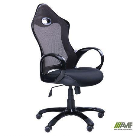 Кресло Матрикс-1 Черный, сиденье Сетка черная/спинка Сетка черная