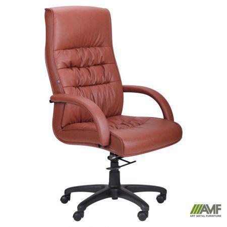 Кресло Орхидея НВ, кожзам коричневый (643-B Hi-Back Brown PU+PVC HL014 Mech)