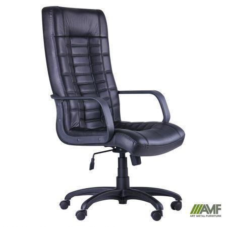 Кресло Парис Пластик Кожа Люкс комбинированная Черная