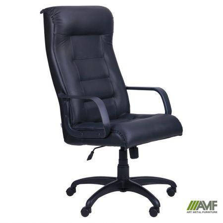 Кресло Роял Пластик Кожа Сплит черная, фото 2