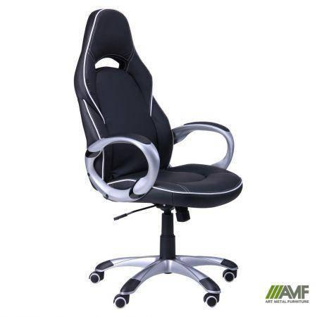 Кресло Страйк (CX 0496H Y10-02) Черный/кант Белый, фото 2