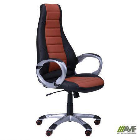Кресло Форс (CX 0678 Y10) Черный/вставка Коричневый, фото 2