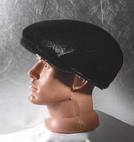 Шапка мужская кепка,мех нерпа,мягка, кожа