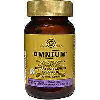 Мультивитамины и минералы oмниум, Multiple Vitamin and Mineral, Omnium, Solgar, 60 табл