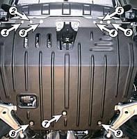 Защита двигателя Nissan X-Trail T30 (2001-2007) Полигон-Авто
