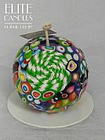 Карамельная свеча ELITE CANDLES цвета Марсала для интерьера или подарка