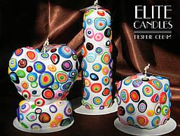 Набір карамельних свічок ELITE CANDLES майстерня різьблення, стильний дизайн, неповторний візерунок