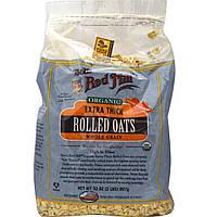Овсяные хлопья (экстра плотные), Rolled Oats, Bob's Red Mill, органик, 907 г