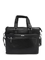 Мужская сумка Bradford B8913-5 черная для планшета и документов А4 искусственная кожа 39см х 31см х 9см