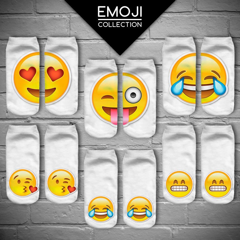 Носки со смайликами Emoji (Эмодзи, Эмоджи)!