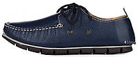 Мужские кожаные мокасины Clarks Casual Navy (Кларкс) синие
