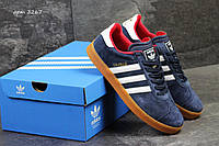 Кроссовки, кеды Adidas Gazelle, синие с красным