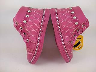 Обувь для девочек, детские ботики малиновые, Clibee Польша