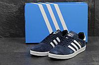 Кроссовки, кеды Adidas Gazelle, синие с белым
