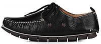 Мужские кожаные мокасины Clarks Casual Boat Black (Кларкс) черные