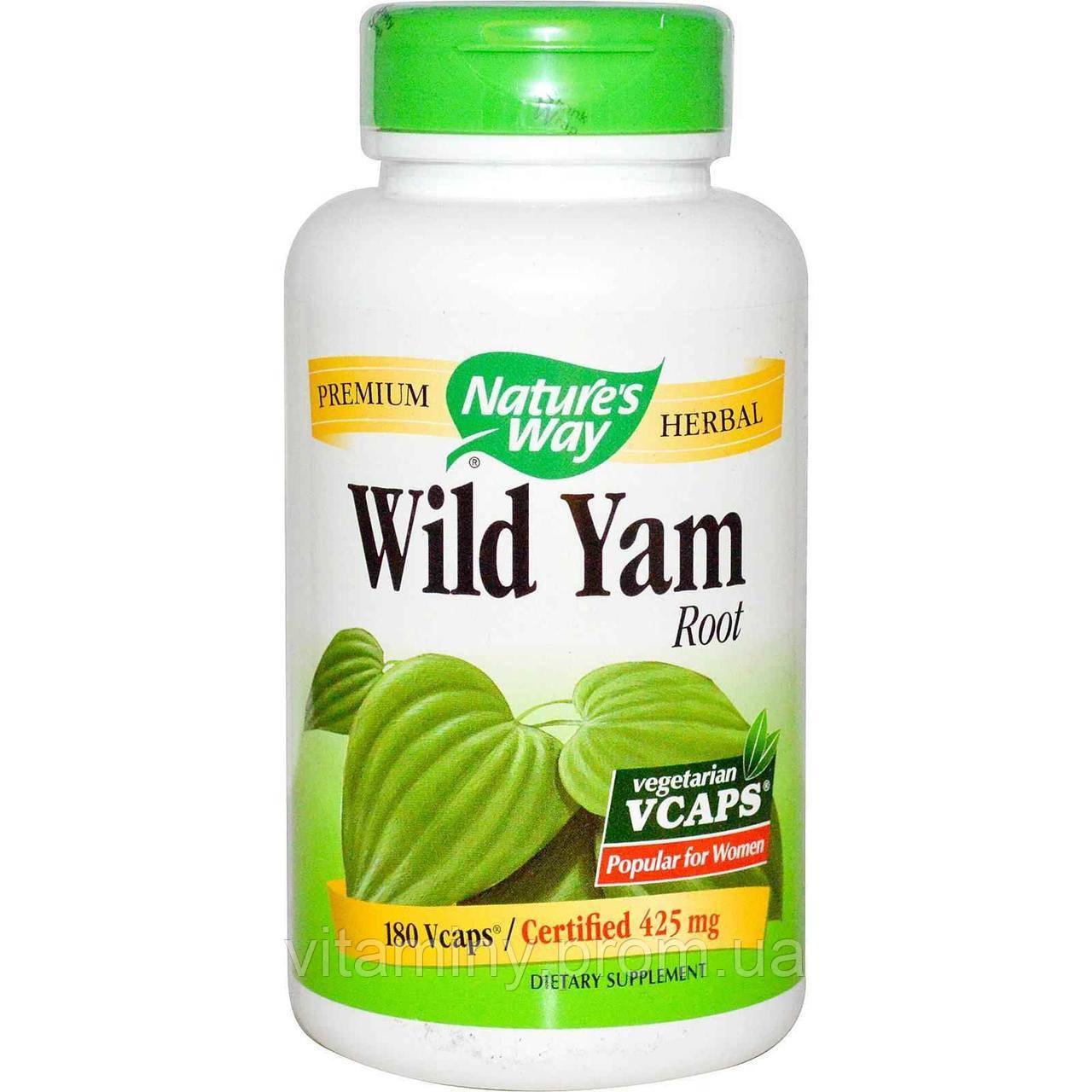 "Дикий ямс, Wild Yam, Nature's Way, 425 мг, 180 капсул - Интернет-магазин ""Американский рай"" в Киеве"