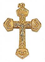 Крестик фирмы Хuping, цвет: позолота+родий. Высота 5 см. ширина 30 мм.