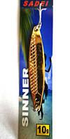 Колебалка Sadei Spinner 10 гр. золото  (BKP012)