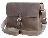 Элитная наплечная мужская сумка в коричневом цвете SHVIGEL (00980)