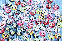 Стеклянные кабошоны, 80 шт/уп. Микки микс оптом, фото 1