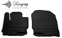 Резиновые коврики Stingray Стингрей Mitsubishi COLT  2004- Комплект из 2-х ковриков Черный в салон. Доставка по всей Украине. Оплата при получении