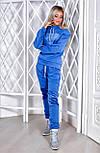 Костюм женский стильный теплый из трехнитки с капюшоном и плюш(3 цвета), фото 2