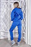 Костюм женский стильный теплый из трехнитки с капюшоном и плюш(3 цвета), фото 3