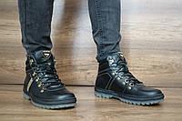 Зимние ботинки мужские кожаные черные PAV 10486