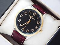 Качественные наручные часы Continent на кожаном ремешке